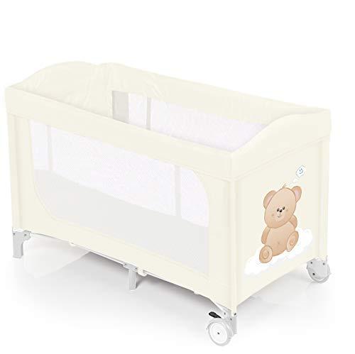 Brevi 811 Babybett Dolce Nanna Plus C/Kit Doppelhöhe, blau Orso Latte