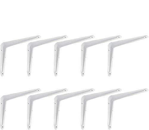 10 PCS Shelf Brackets,Tripod Triangle Wall Mounted Shelf Brackets,Heavy Duty Bracket,Shelving Support Brackets, Book Shelf Bracket, Floating Shelf Bracket