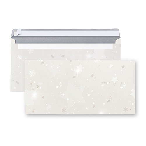 20 Stück Brief-Umschläge VINTAGE WEIHNACHTEN STERNE Weihnachtskuverts Weihnachtsumschläge weihnachtliche Kuvert alt Papier braun weiß beige Nostalgie DIN lang 22 x 11 cm Briefkuvert