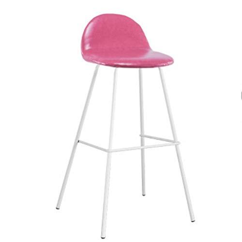 Chair Table de bar minimaliste moderne et chaises maison café créative tabourets nordiques hautes tours en fer forgé chaise rouge A+ (Couleur : 7, taille : 75cm)
