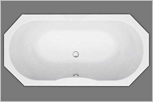 Unbekannt Achteckbadewanne Acryl weiß 190x90cm