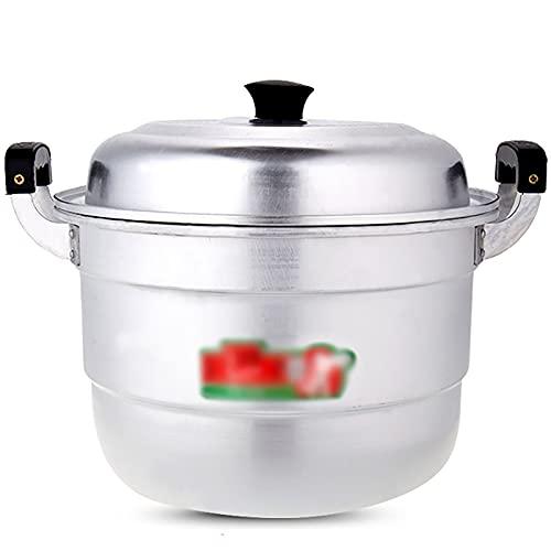 Pentola in alluminio alluminio/zuppa di alluminio Pentola in alluminio antiquato per panini al vapore ispessiti Gas di grande capacità (Size : 42cm)