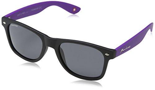 Montana Eyewear Sunoptic MP40H zonnebril in zwart plus paars, inclusief stoffen zak