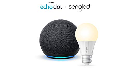 All-new Echo Dot (4th Gen) - Charcoal - bundle with Sengled Bluetooth...
