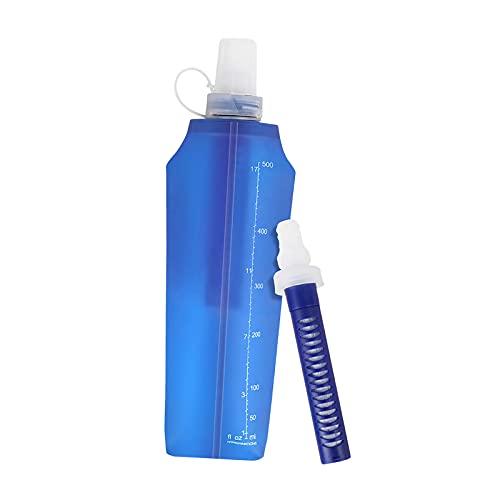 lahomia Botella de Agua Filtrada Bolsa de Agua Al Aire Libre Portátil para Acampar, IR de Excursión, Viajar