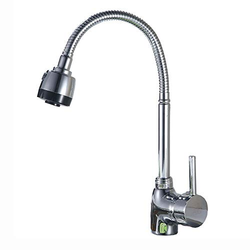Lowest Price! Modenny Brass Universal Rotating Kitchen Sink Hot and Cold Tap Bathroom Bathtub Shower...