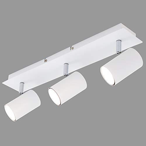 Briloner Leuchten Plafón, lámpara de techo, 3 luces, GU10, máx. 40 vatios, blanco, metal, W