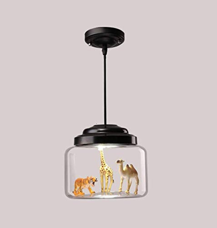 Phil lamps LED Nordic Restaurant Kronleuchter Bar Glasdecke Beleuchtung Kreative Persnlichkeit Tier Schlafzimmer Kinderzimmer Schlafzimmer Dekoration Licht(24x24cm),Singlehead24x24cm