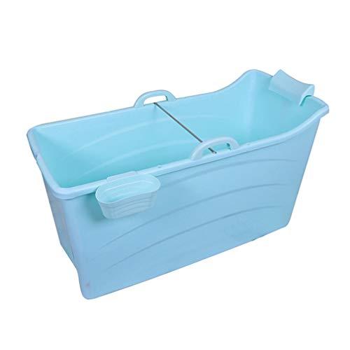 WENJUN Faltbare Erwachsene Badewanne Für Blau, Babybadewanne, Haushalts-faltende Wanne,  Faltbare Badewanne Für Erwachsene Mit Bezug Rosa (Farbe : Blue Without Cover)