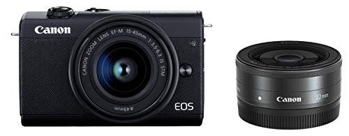 Canon ミラーレス一眼カメラ EOS M200 ダブルレンズキット ブラック EOSM200BK-WLK-A