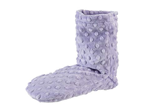 Sonoma Lavender Spa Booties, Microwavable Heated Slippers, Luxury Herbal Booties, Herbal Aromatherapy Foot Warmer, Lilac Dot