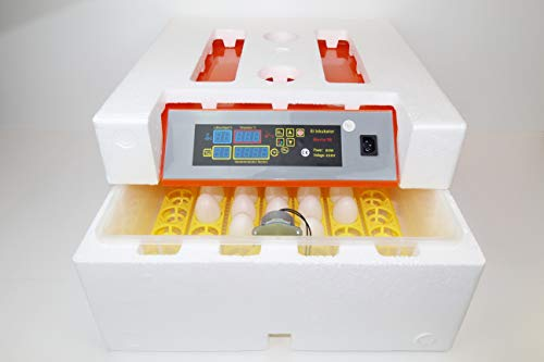 Campo24 Motorbrüter autom Wendung Brutapparat, Inkubator, für bis zu 112 Eier Inkubator (Berta 56) - 2