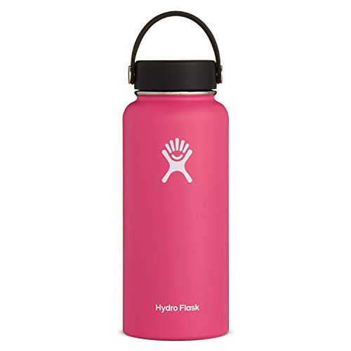 Hydro Flask Water Bottle - Stainless Steel & Vacuum Insulated - Wide Mouth with...