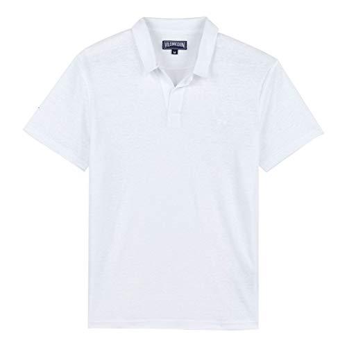 Vilebrequin - Solid Polohemd aus Leinenjersey für Herren (WEIß, XL)