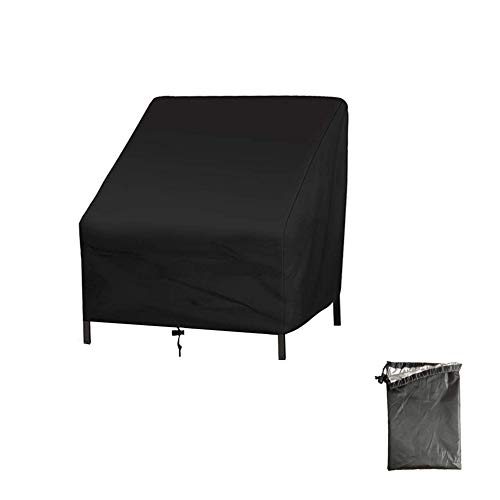 Weimoli Hilai Garden Chair Covers Durable Patio Stacking Chair Cover Waterproof Furniture Chair Cover for Outdoor Chairs Storage (70 * 79 * 102CM)