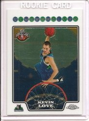 2008 Topps Chrome Kevin Love Rookie Card
