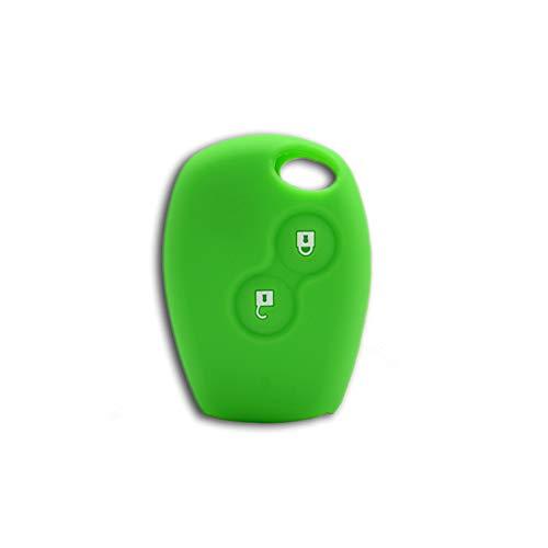 1neiSmartech Cover Guscio Colorato Case Materiale Silicone Morbido Per Scocca Chiave Telecomando 2 Tasti Auto Dacia Logan Sandero Duster Express Vari Colori (Verde)