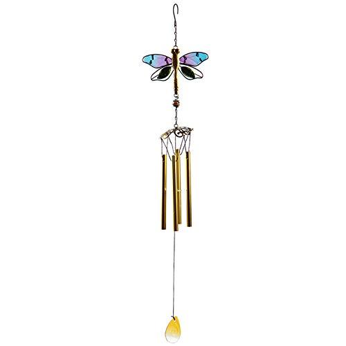 HUBA Windspiele Libelle hängende Ornamente Aluminiumlegierungsrohre Glocke Äolische Windspiel für den Garten Balkon draußen hängend Metall Outdoor Yard Dekor (1 PC, B)