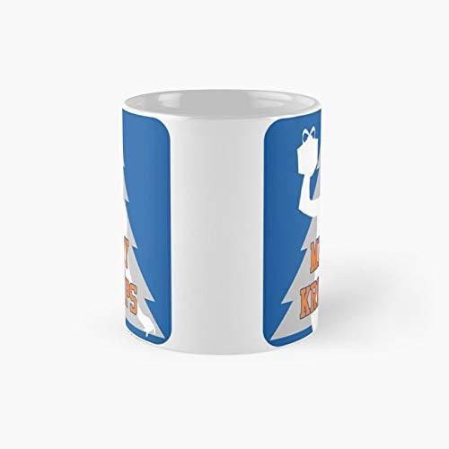 Merry Kristaps – Taza clásica azul   El mejor regalo divertidas tazas de café de 11 oz