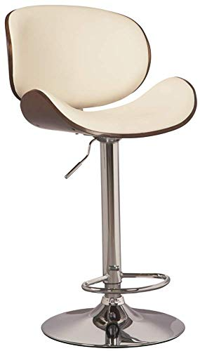 Signature Design by Ashley - Bellatier Tall Upholstered Swivel Barstool - Contemporary Style - Brown/White