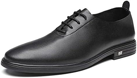 Cccxzxhuznsnjx Oxford Shoes Men, Men's Formal Casual Shoes Men's Soft Leather Fashion Men's Comfortable Oxford Shoes (Color : Black, Size : 6)