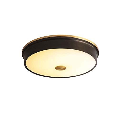 ZLX Lámpara LED De Techo De Cobre Negro Estadounidense, Moderna, Minimalista, Estudio, Lámpara, Balcón, Pasillo, Lámpara De Porche