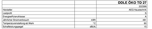 AEG vollelektronischer Durchlauferhitzer DDLE ÖKO TD, 27 kW, LCD, ECO-Funktion, Regendusche, 222399 - 9