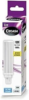 CEGASA LAMPARA LED PLC G24d-3 10,5w 1000 LM 120º 5000K, Negro, Estandar