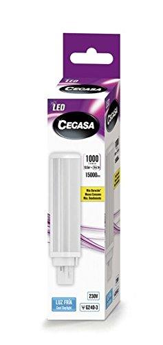 Lampara Cegasa LED PLC G24d-3 10,5 W 1000 lm 120 ° 5000 K