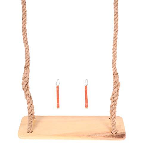 ABOOFAN Cottonwood Swing Swing Columpio de cuerda de cáñamo para niños adultos interiores y exteriores (marrón claro)