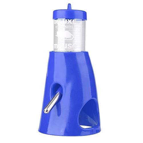 Zerodis Fuente de Agua para hámster, Botella de Agua automática para hámster, dispensador de Botella de Agua para Mascotas, para Animales pequeños(Azul)