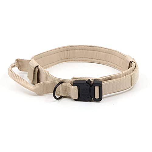 ASFD Collar de perro ajustable suave y cómodo collar de perro anti-perdido caqui