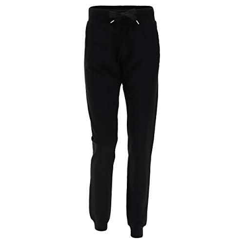 FREDDY Pantalon Classique 95% Coton avec Grande Bande à Lacet à la Taille - Noir - Small
