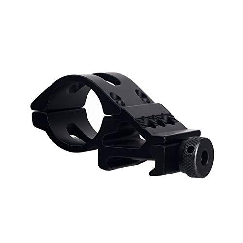 FOCUHUNTER Offset Angolato Scope Rings - Torcia Elettrica Mount Rings 20mm Weaver/Picatinny Rail, Accessorio per Fucile (25.4mm)