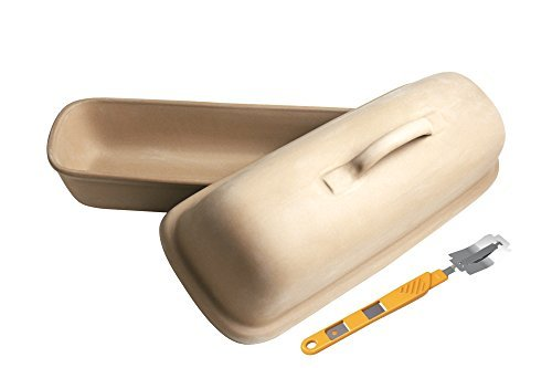 High Quality Stoneware Bread Baker with Specialty Bread Lame