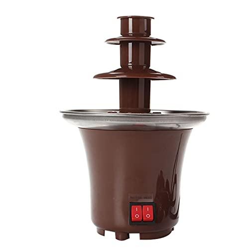 Fuente de fondue de chocolate de 3 niveles, fácil de montar, perfecta para salsa de queso Nacho, barbacoa, salsa ranch.