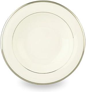 Lenox Solitaire Rimmed Bowl, Pasta/Soup, white, platinum