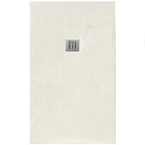 Receveur de douche Emotion Serenity effet pierre rectangulaire blanc cm 70 x 80