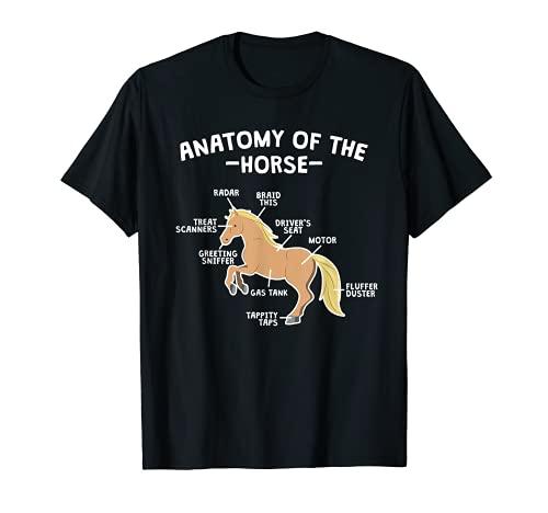 Cita ecuestre de caballo Anatomía de Caballo Equestre Camiseta