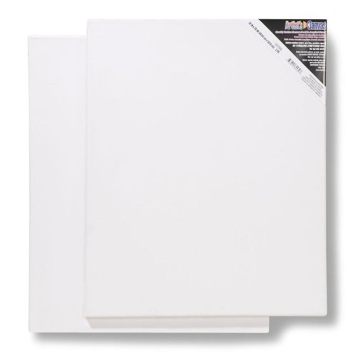 "Darice Cotton Stretched Canvas, Pack of 2 – 16"" x 20""..."