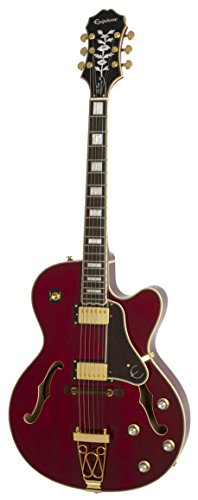 Epiphone 'Joe Pass' EMPEROR-II PRO Hollow Body Electric Guitar with Coil Tapping, Wine Red