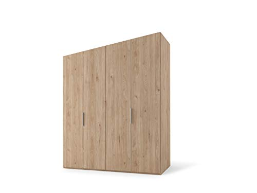 Nolte Möbel Presto Armario con Puertas batientes, Tabla de Madera aglomerada, Chaquetón de Roble Jackson, 223/200/62 cm