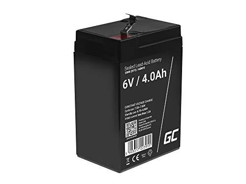 Green Cell Batteria Lead Acid AGM 6V 4Ah Al Piombo Ricaricabile Ciclica Pila batteria Ermetica Batterie di ricambio per Sistemi di sicurezza Giocattoli Impianto di allarme