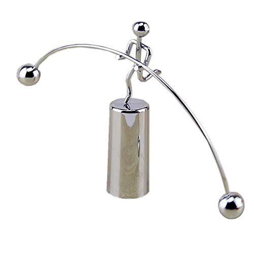 Mini Stahl Balance Spielzeug, Dekoration Pendel Newton Wiege Balance Ball Tumbler Schreibtisch Spielzeug Metall Mann Home Dekoration Basteln single feet Wie abgebildet
