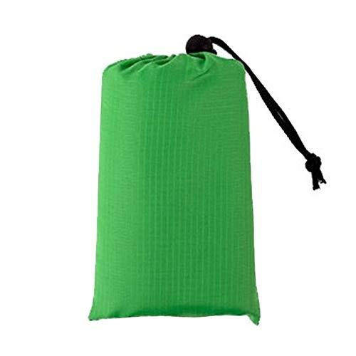 Manta de Picnic Carpa Impermeable Colchoneta Ultra Ligero al Aire Libre del Bolsillo de la Estera de la Comida campestre (Color : Green Color, Size : 140x150cm)