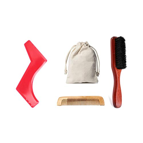 SAMENTHA Kit de barba para hombres de aceite de barba Bálsamo de barba cepillo de mano para la barba de aseo de madera masculina de la barba cuidado cuidado cuidado cuidado cuidado cuidado 3