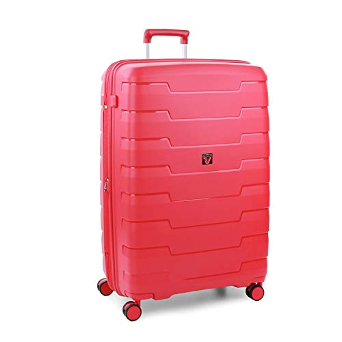 Roncato Skyline Maleta Grande Expansible Rojo, Medida: 79 x 50 x 29/34 cm, Capacidad: 125/140 l, Pesas: 4.2 kg