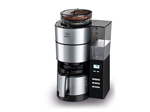 メリタ ミル付き全自動コーヒーメーカー アロマフレッシュサーモ 2~10杯用 ブラック AFT1021-1B