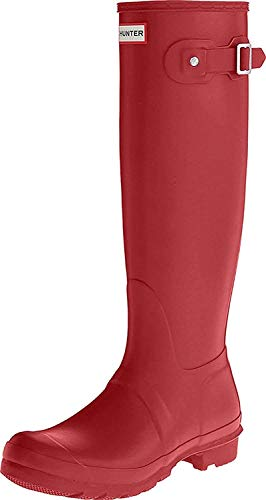 Hunter Original Tall Wellington, Damen Gummistiefel, Rot (Military Red), 38 EU