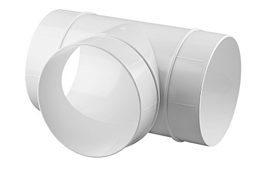 Verbinder T-Stück Lüftungsrohr ABS Rundrohr Ø 150 Abluft-Rohr Awenta 150 mm , PVC